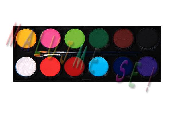 Sada barev pro malování na obličej 12x10g
