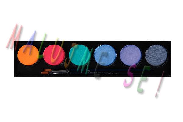 Sada barev pro malování na obličej 6x10g pastel