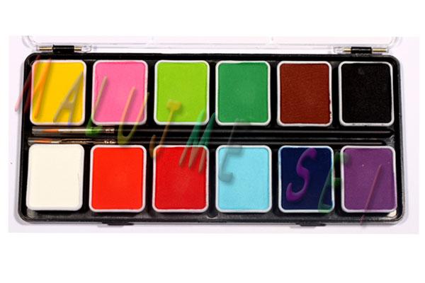 Sada barev pro malování na obličej 12x 7g