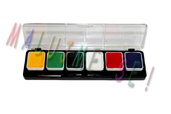 Sada barev pro malování na obličej 6 x 7g